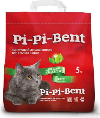 Наполнитель для кошачьего туалета Пи-Пи-Бент Сенсация свежести комкующийся